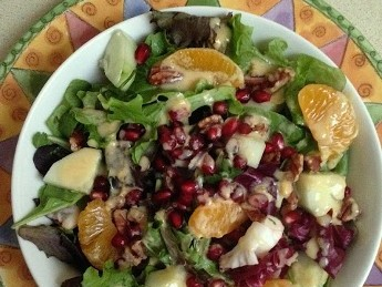 Fabulous Fall Salad with Pomegranate Arils and Simply Sesame-Citrus Dressing